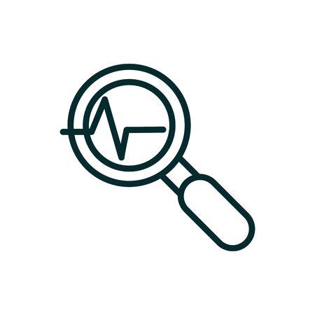 analysis cardiology equipment medical icon line Stock Illustratie