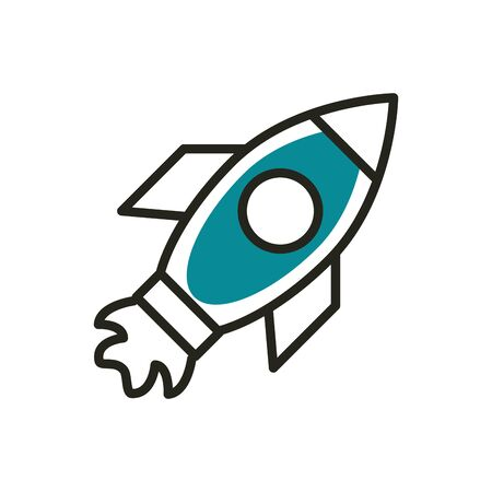 startup web development icon vector illustration line and fill
