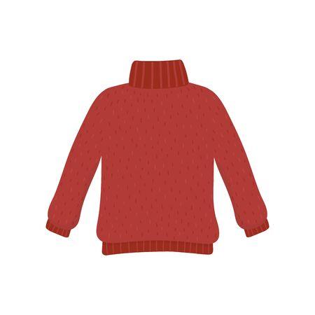 christmas red ugly sweater party decorative vector illustration Illusztráció