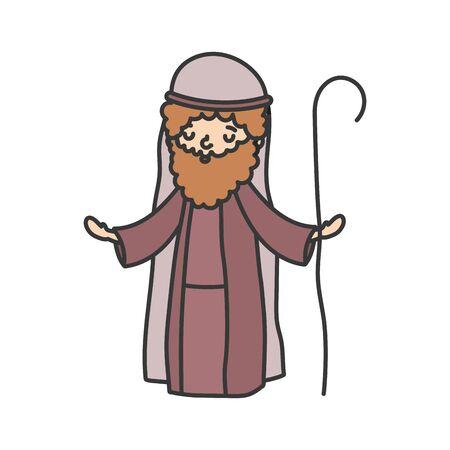 joseph character manger nativity, merry christmas
