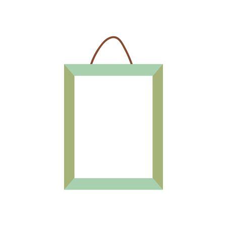 frame photo hanging empty icon on white background vector illustration