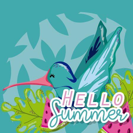 Hello summer cartoons Çizim