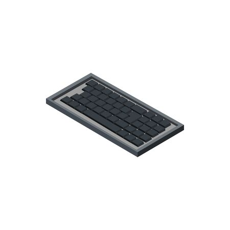 keyboard technology hardware device computer isometric