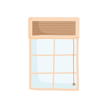 window indoor house isolated icon Çizim