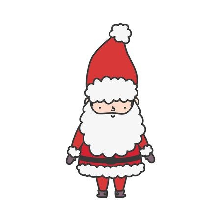 cute santa claus character happy christmas Stok Fotoğraf - 133703087