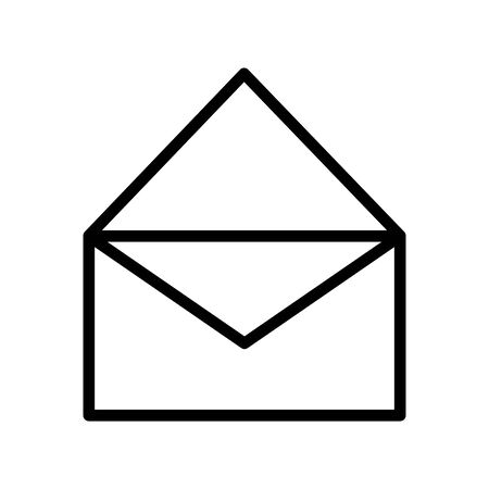 open mail envelope courier message thick line 写真素材 - 133702471
