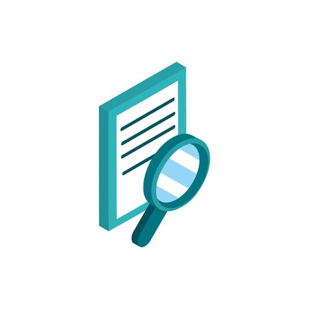 data analysis social media isometric icon