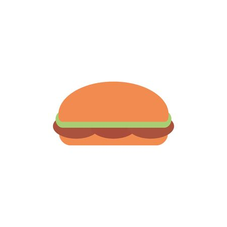Isolated sandwich icon flat design
