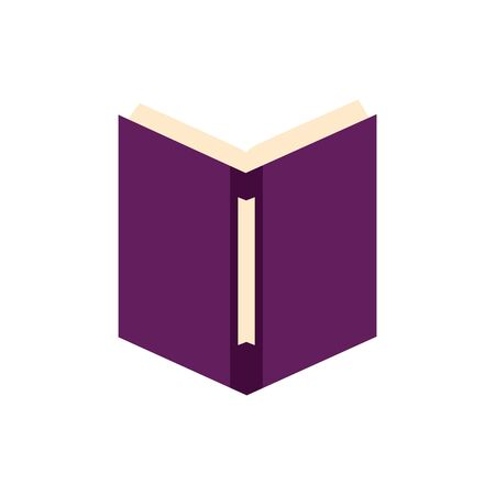 Isolated open book flat design