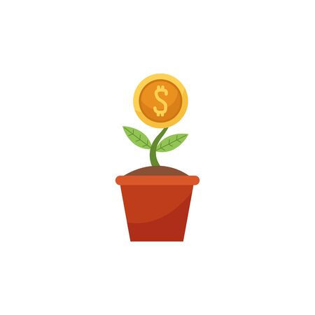 Isolated coin plant flat design Stock fotó - 133702175