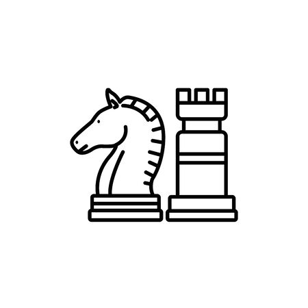 Isolated piece of chess line design