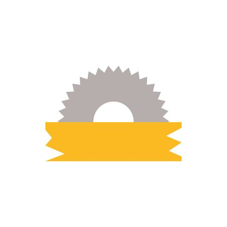 Isolated construction saw flat design