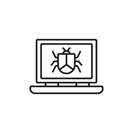 laptop virus technology internet line style Stock fotó - 133702008