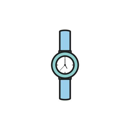 Isolated watch icon fill design