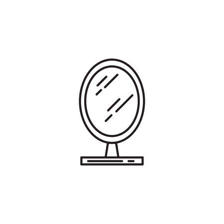 mirror cosmetic accessory flat icon