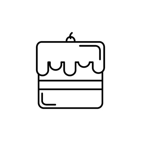 Isolated sweet cake icon line design Illusztráció