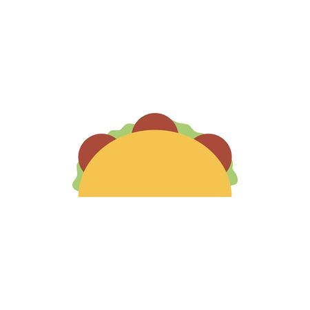 Isolated tacos icon flat design Ilustrace