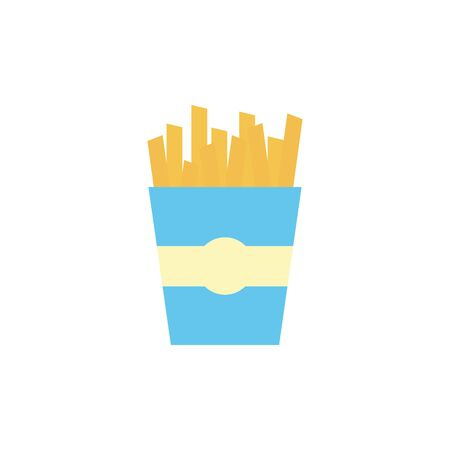 Isolated french fries icon flat design Archivio Fotografico - 133702032