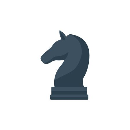 Isolated piece of chess flat design