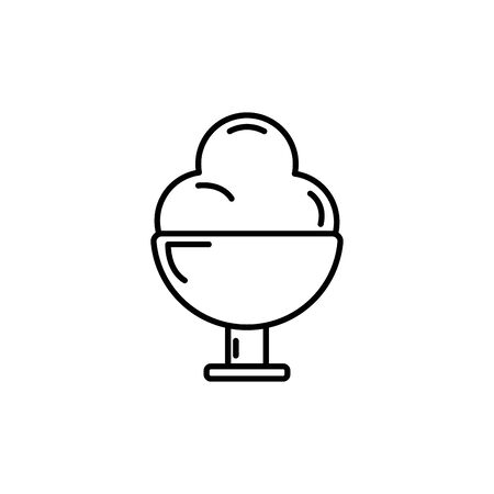Isolated sweet ice cream icon line design Illusztráció
