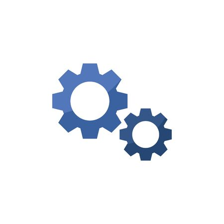 Isolated gears icon flat design