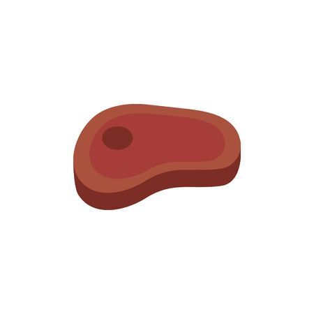 Isolated meat icon flat design