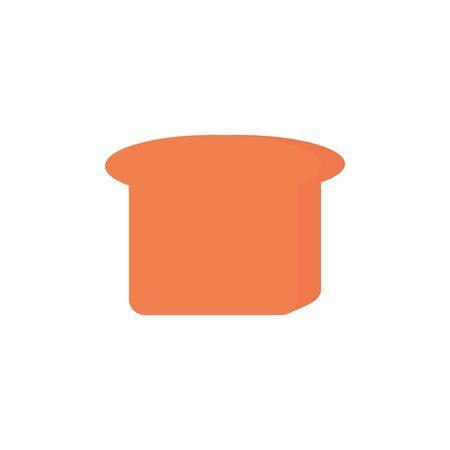 Isolated bread icon flat design