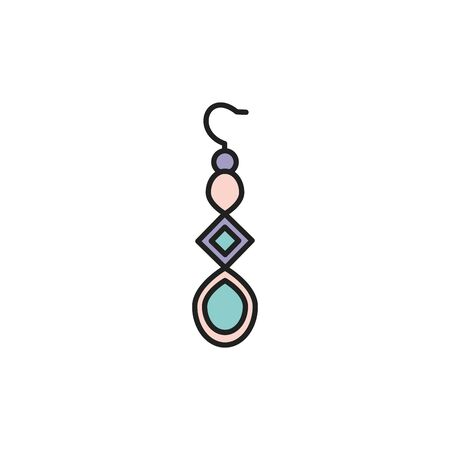 Isolated earring icon fill design