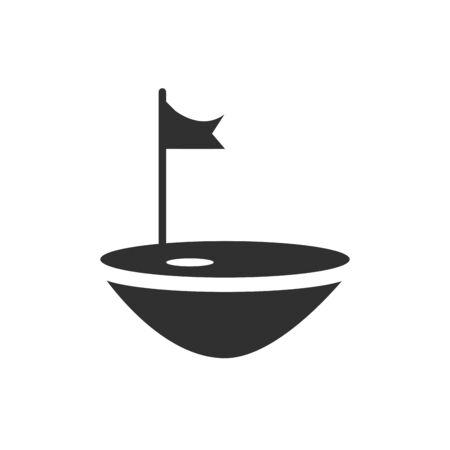 Isolated golf flag flat vector design