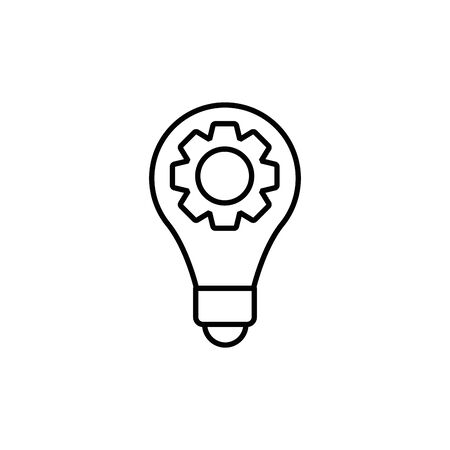 Isolated light bulb and gear line design
