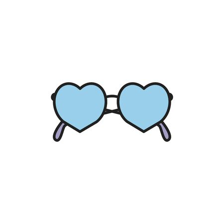 Isolated summer glasses fill design 일러스트
