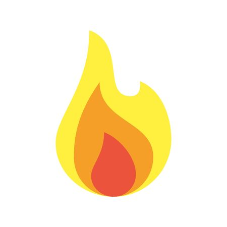 fire flame flat style icon vector illustration design
