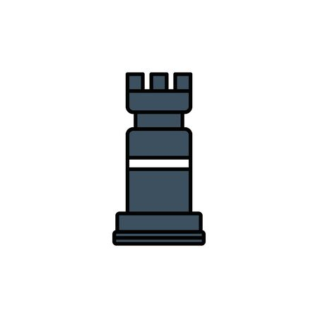 Chess design, Piece game strategy competition leisure hobby play theme Vector illustration Çizim