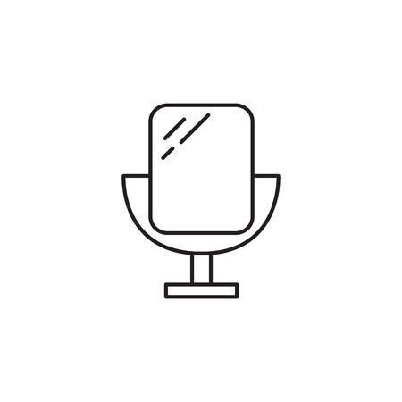 mirror cosmetic accessory flat icon vector illustration design