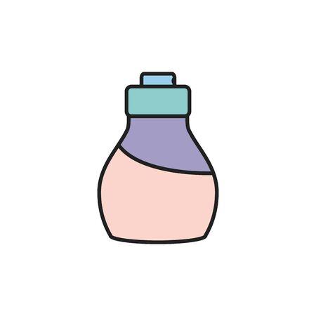 Diseño de icono de botella de perfume, maquillaje de belleza cosmética estilo moda glamour piel y cuidado facial tema ilustración vectorial