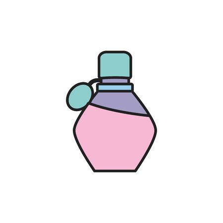 Isolated perfum bottle fill design