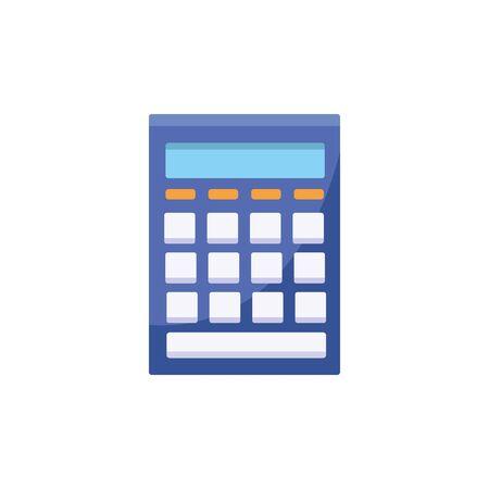 Isolated calculator icon flat design