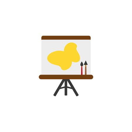 Isolated paint canvas flat design