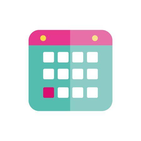 Isolated calendar icon flat vector design