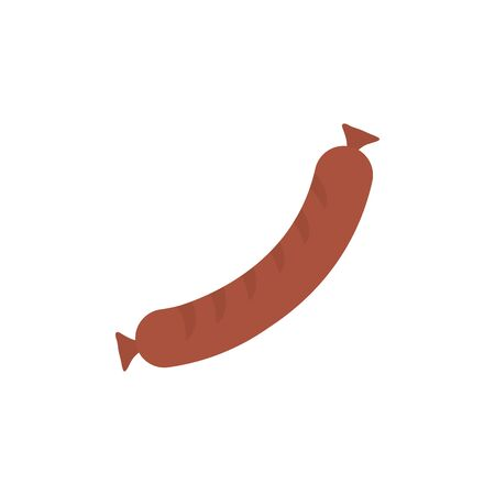 Isolated sausage icon flat design