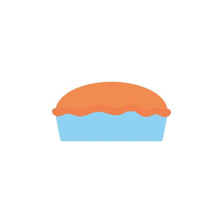 Isolated sweet cake icon flat design Illusztráció