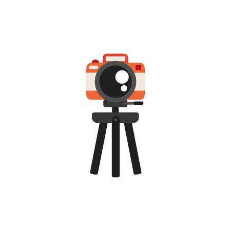 Isolated camera icon flat design Ilustracja