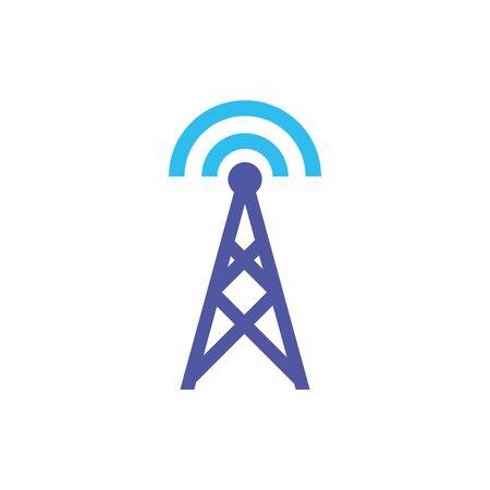 Digital antenna icon flat design