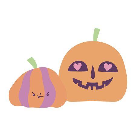 happy halloween celebration scary pumpkins decoration
