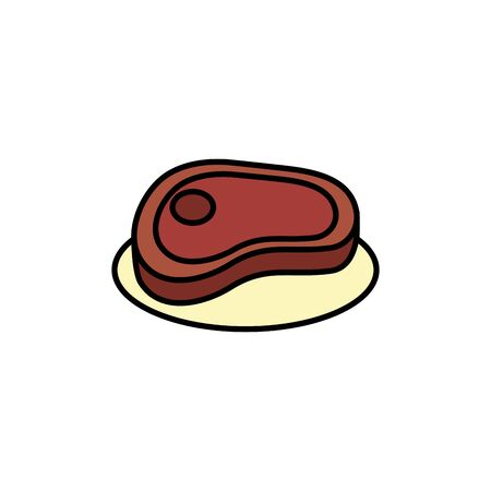 Isolated meat icon fill design Ilustrace