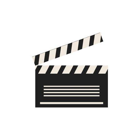 Isolated cinema clapboard icon flat design Foto de archivo - 133722513