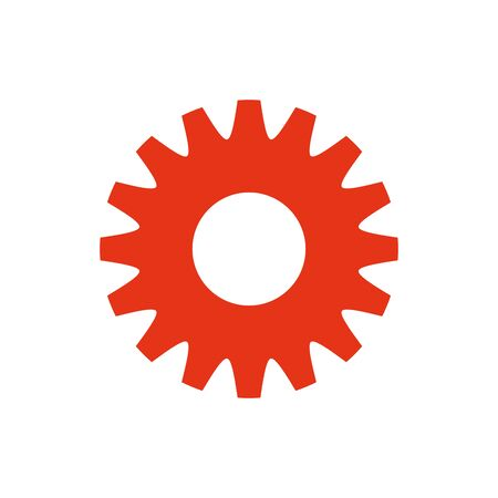 Isolated gear icon flat design Banco de Imagens - 133722538