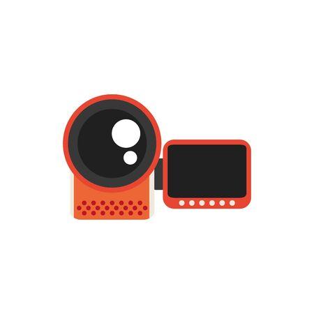 Isolated videocamera icon flat design Çizim