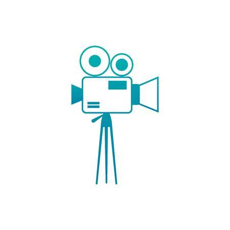 Isolated videocamera icon gradient design Çizim