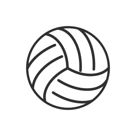 Isolated ball of volleyball flat vector design